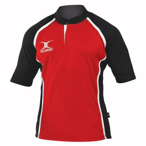 Maillot de rugby X-Act Gilbert rouge noir