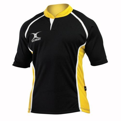 Maillot de rugby X-Act Gilbert noir or