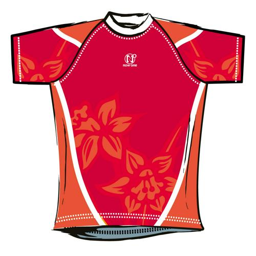 Maillot de rugby Now One exotic enfant rouge