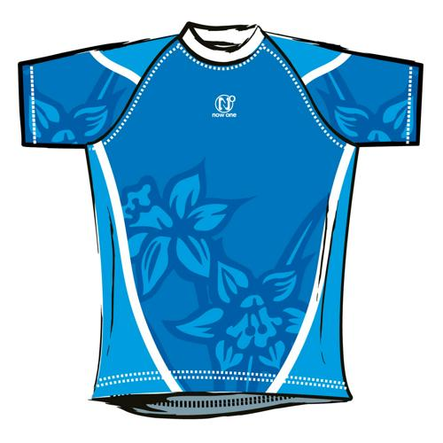 Maillot de rugby Now One exotic enfant bleu