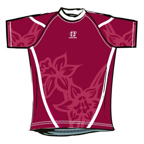 Maillot de rugby Now One exotic adulte bordeaux