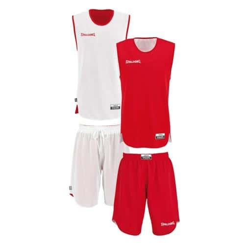 Set Maillot/Short Spalding kid réversible rouge/blanc