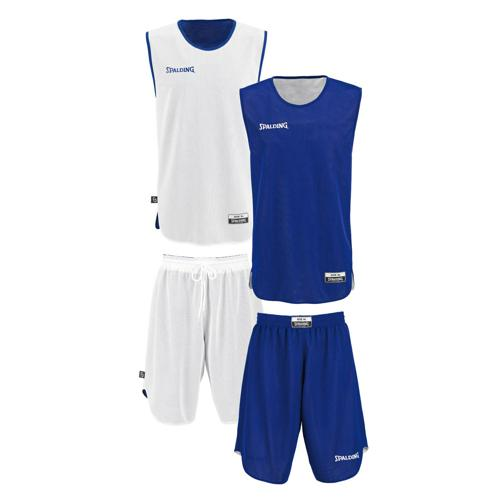 Set Maillot/Short Spalding kid réversible royal/blanc