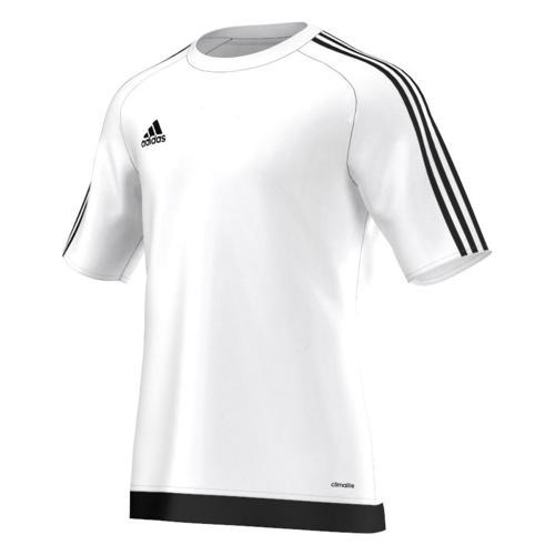 Maillot manches courtes adidas Estro blanc noir
