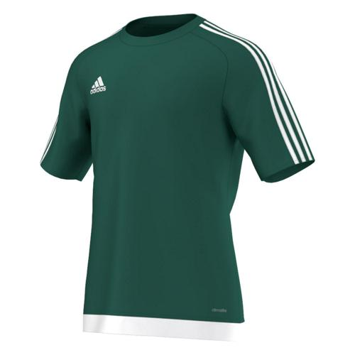 Maillot manches courtes adidas Estro vert blanc