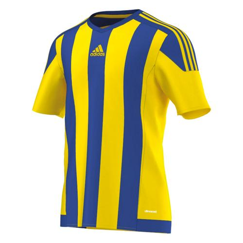 Maillot adidas Striped MC Jaune-Royal