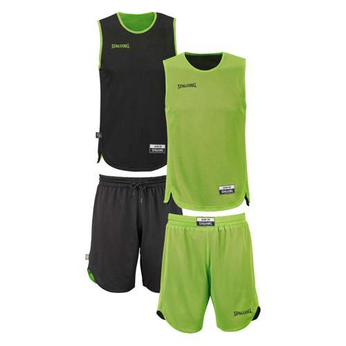 Set Maillot/Short Spalding kid réversible vert/noir