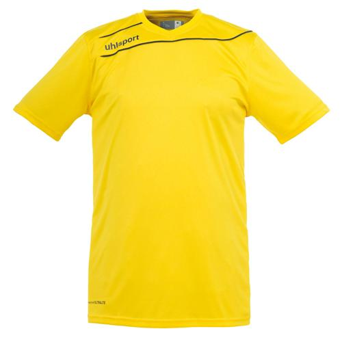 Maillot Uhlsport Stream 3 MC Jaune-Noir
