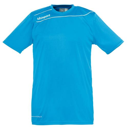 Maillot Uhlsport Stream 3 MC Cyan-Blanc