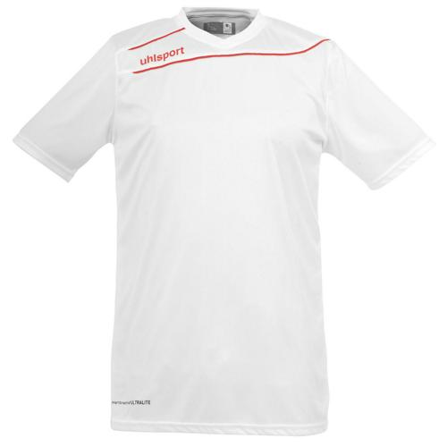 Maillot Uhlsport Stream 3 MC Blanc-Rouge