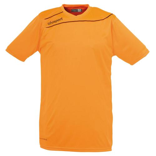 Maillot Uhlsport Stream 3 MC Orange Fluo-Noir