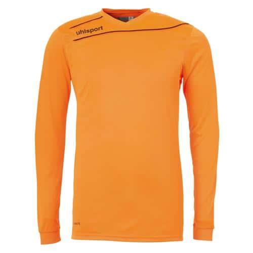Maillot enfant Uhlsport Stream 3. 0 Orange fluo - Noir manches longues