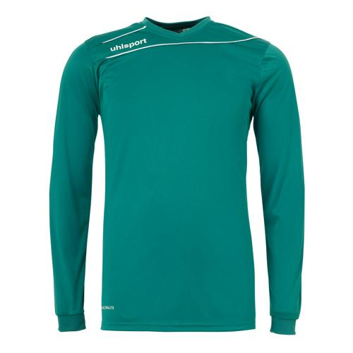 Maillot Uhlsport Stream 3. 0 Vert lagon-Blanc manches longues
