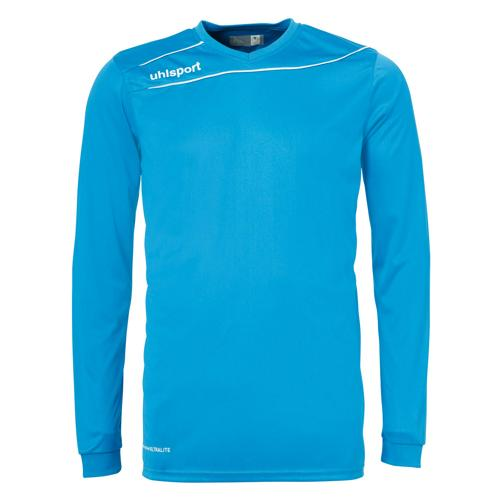 Maillot Uhlsport Stream 3. 0 Cyan-Blanc manches longues