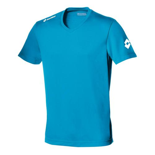 Maillot Lotto Team Evo MC Bleu Fluo