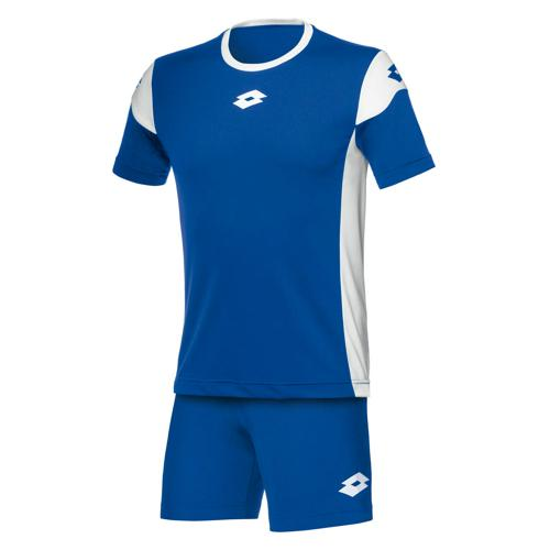 Set Maillot/Short Enfant Lotto Stars Evo MC Royal-Blanc