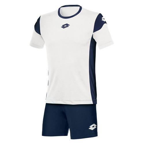 Set Maillot/Short Lotto Stars Evo MC Blanc-Marine