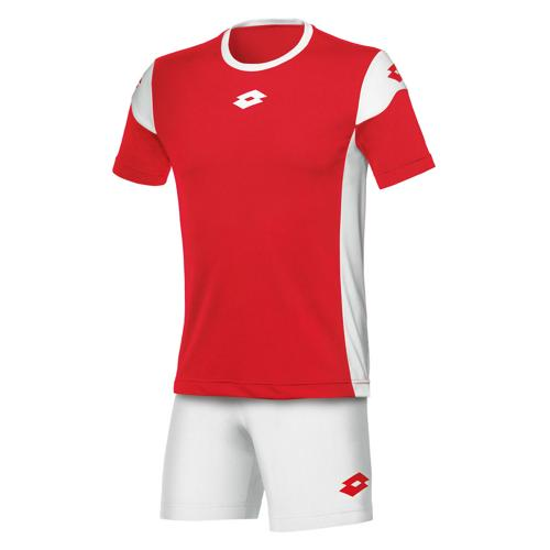 Set Maillot/Short Lotto Stars Evo MC Rouge-Blanc