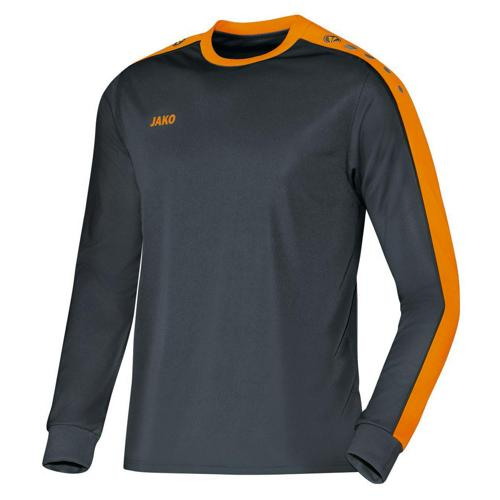 MAILLOT STRIKER ML ANTHRACITE-ORANGE JAKO