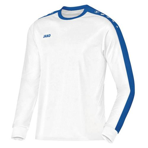 MAILLOT STRIKER ML BLANC-ROYAL JAKO