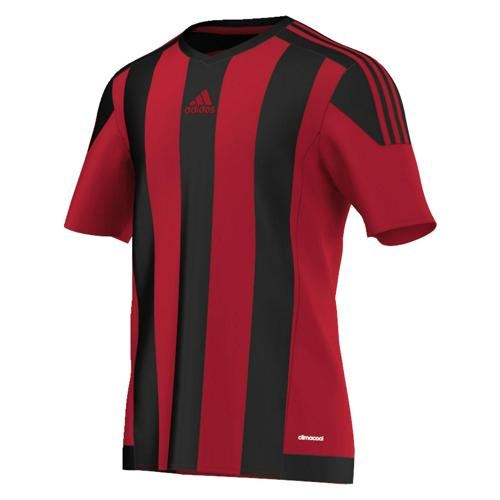 Maillot adidas Striped MC Noir-Rouge
