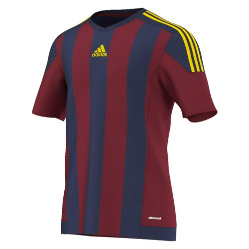 Maillot adidas STRIPED MC Rouge-Bleu