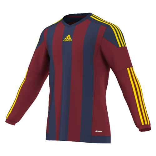 Maillot adidas Striped ML Rouge-Bleu