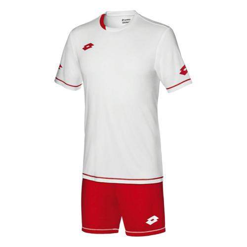 Set Maillot/Short Lotto Sigma Evo MC JUNIOR Blanc/Rouge