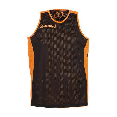 Maillot Spalding réversible Orange/Noir