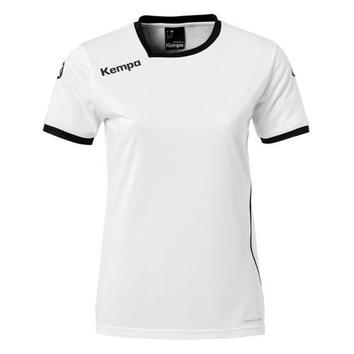 Maillot MC Feminin Kempa Curve Blanc/Noir