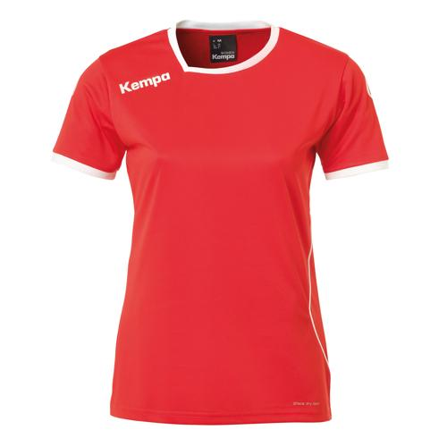 Maillot MC Feminin Kempa Curve Rouge/Blanc