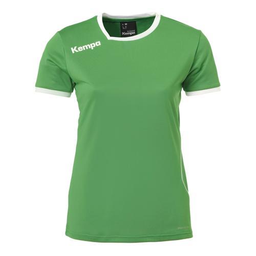 Maillot MC Feminin Kempa Curve Vert/Blanc