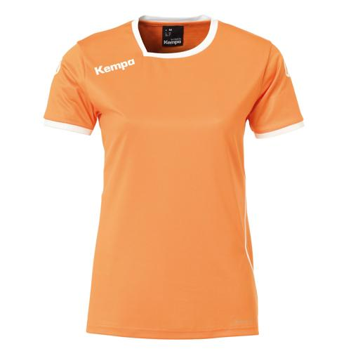 Maillot MC Feminin Kempa Curve Orange/Blanc