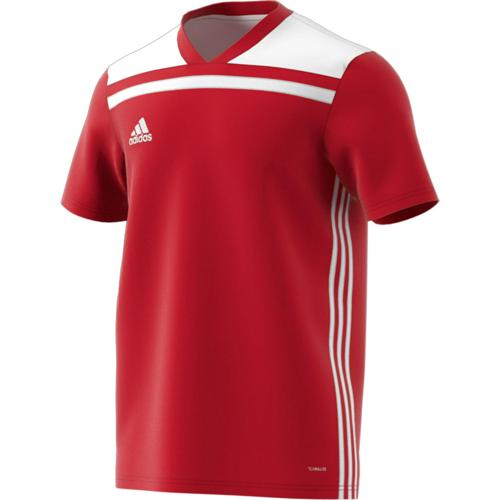 Maillot Regista 18 MC Rouge/Blanc adidas