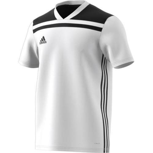 Maillot Regista 18 MC Blanc/Noir adidas