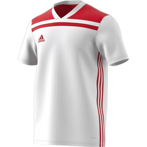 Maillot Regista 18 MC Enfant Blanc/Rouge adidas