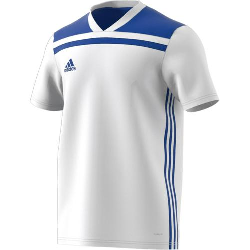Maillot Regista 18 MC Enfant Blanc/Royal adidas