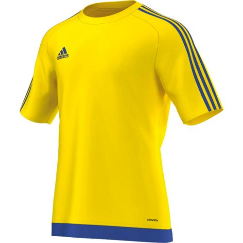 Maillot Estro 15 MC Enfant Jaune/Royal adidas