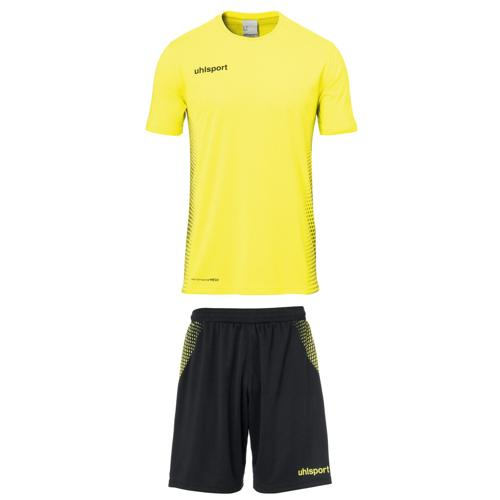 Set maillot/short Score MC Jaune fluo/Noir Uhlsport