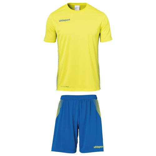 Set maillot/short Score MC Jaune/royal Uhlsport
