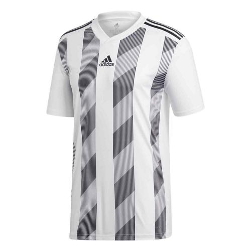Maillot Striped 19 MC blanc/noir Enfant ADIDAS