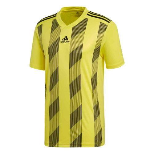 Maillot Striped 19 MC jaune/noir Enfant ADIDAS
