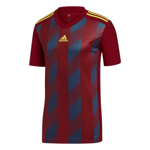 Maillot Striped 19 MC bordeaux/jaune Enfant ADIDAS
