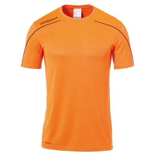 Maillot MC Stream 22 Orange fluo/Noir UHLSPORT