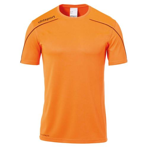 Maillot MC Stream 22 Orange fluo/Noir enfant UHLSPORT
