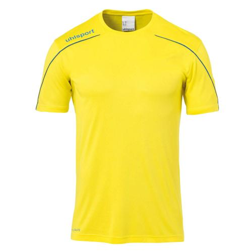 Maillot MC Stream 22 Jaune/Azur enfant UHLSPORT
