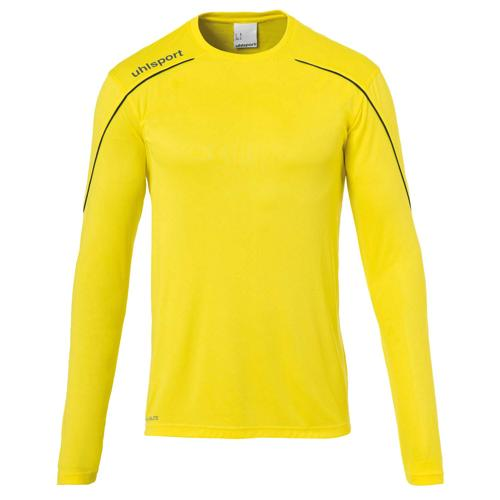 Maillot ML Stream 22 Jaune/Noir UHLSPORT
