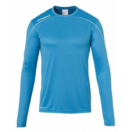 Maillot ML Stream 22 Cyan/Blanc UHLSPORT