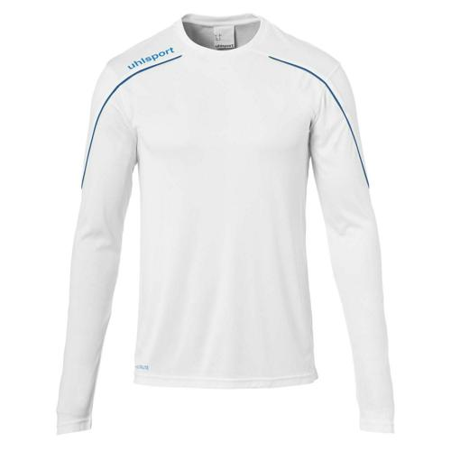 Maillot ML Stream 22 Blanc/Azur UHLSPORT