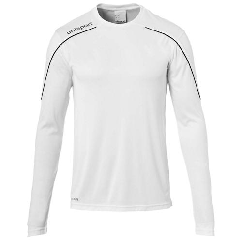Maillot ML Stream 22 Blanc/Noir enfant UHLSPORT